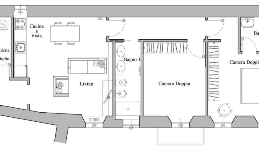 planimetria per i siti Tiraboschi 2 piano 2
